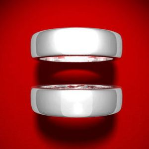 Marriage Equality Red Background Rings