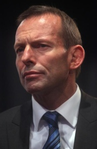 Australian Prime Minister Tony Abbott, who, unlike his conservative counterparts in the UK (David Cameron) and NZ (John Keys), strongly opposes marriage equality.