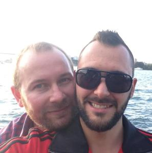 Me (on the left) and Steven (aka the handsome guy with the sunnies).