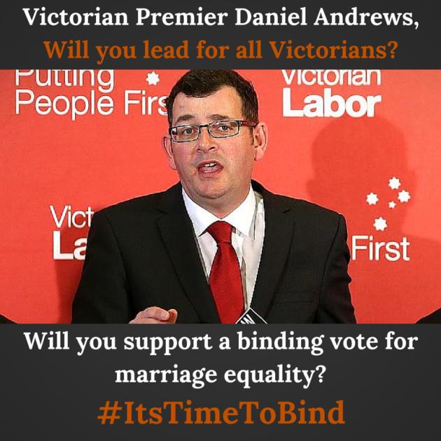 Victorian Premier Daniel Andrews, Will-2