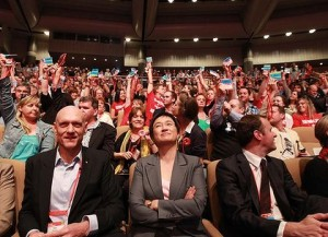 Senator Penny Wong at the 2011 ALP National Conference in Sydney