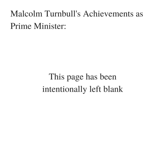 Malcolm Turnbull's Successes as Prime Minister_