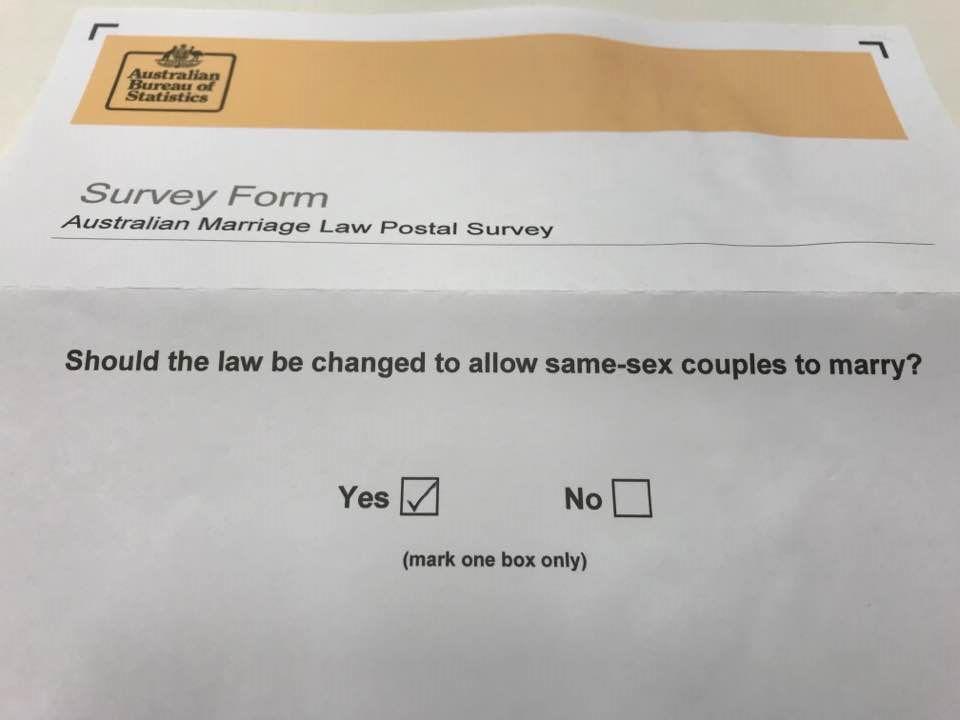 Postal survey form