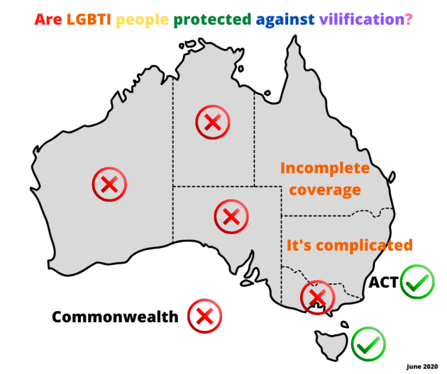 LGBTI Vilification Australia June 2020